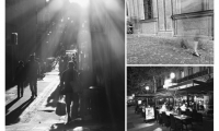 Urban Diary Excerpt No. 5 Figures (L-R, top to bottom) 1.5, 1.6, 1.7 (images: people walking in European cities, street cafe)
