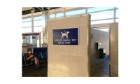 Airports have developed various ways to provide relief areas for service animals and pets (photo courtesy Des Moines International Airport)