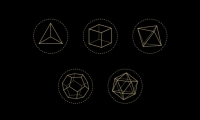 As the visual foundation for the graphics program, Volume discovered the Platonic solids, which Plato associated with the basic elements.