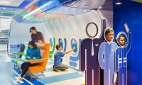 'Join the JetBlue Crew' – Crew Standees Photo-Op Activity and Cabin Seats 'tray-table' Interactive [Photo: Jon Wallen]