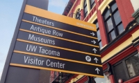 Studio SC created a new vehicular wayfinding system as part of a revitalization program for Tacoma's Pacific Avenue historic district.