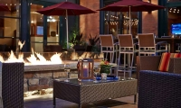 Enjoy the cool Minneapolis summer nights outside on the patio.