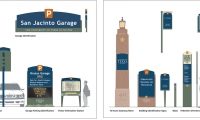 The system includes 21 sign types, each encompassing options for size, illumination, and placement or mounting.