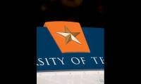 UT's ubiquitous star is a prominent branding element in signage.