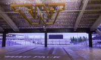 """Premium Tours (+$75) University of Washington Husky Stadium: Converge at the flagship sports venue that """"U-dub"""" sports fans call home. With recent signage and environmental graphics upgrades installed throughout the stadium and supporting facilities, this is an EGD and Sport fan's dream come true! (Photo: CREO Industrial Arts)"""