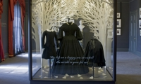 Singelton's art adds to the poignancy of a display featuring mourning costumes worn by Victoria and her children.