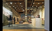 Wenger—maker of the genuine Swiss Army knife —is using its new U.S. flagship to help launch a footwear line. After peeling off old finishes, the Gensler design team kept 85% of the store intact, including well-worn wood floors, ceilings, and brick and stone walls.