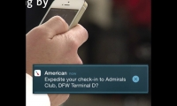 Passengers will use the AA mobile app to navigate, shop, and receive flight updates.