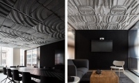 The tread patterns of various legendary Nike shoes correspond to the names of the rooms.