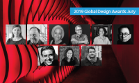 2019 Global Design Awards Jurors, from left to right / top to bottom: Kathy Fry, Lance Wyman, Dardinelle Troen, Cameron Smith, Daisy Corso, Refik Anadol, Lee H. Skolnick, Cynthia Damar-Schnobb, Joe Donovan