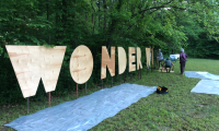 Wonder Woods lettering