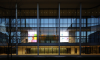 Two 240-sq.-ft. displays are visible from inside and outside the building.