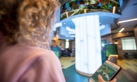Some interactions even affect the LED tree lighting, providing a special tie to the environment as patients and pathfinders play, and heal, together.