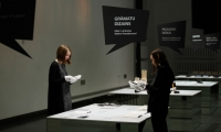 The exhibition design encouraged the communication on different levels - between visitor and space, graphic designer, information.