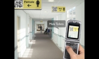 Smart Cameras are sensitive to Quick Response (QR) codes. Each icon contains a URL directing an attached mobile phone to retrieve the information stored there.