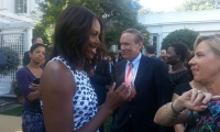 The opening of the White House Visitor Center with First Lady Michelle Obama