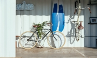 On-site surfboard and bike rentals are part of Make's amenities package. The beach is a five-minute bike ride away.