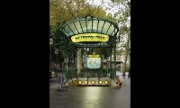 Parris Metro Entrances (1900). Designed by Hector Guimard in the Art Nouveau style, these graceful gateways still define the Parisian streetscape. Timeless integration of typography and form. (Photo: Paristep.com)