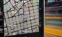 """Orientation of maps use """"heads-up"""" mapping, in which north, south, east or west is rotated to correspond with the direction the user is facing. The design was extensively tested and found easy to use."""