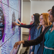 In the hub of eBay's headquarters, ESI Design created a data-driven media experience that tells the story of the company in a fun, interactive way for employees and partners. (Photo: Erynn Patrick)