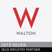 Walton Signs 2019 SEGD Sliver Industry Partners