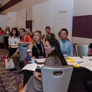 Conference attendees participating in the Design Thinking session.