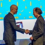 Don Kiel receiving the 2019 Distinguished Member Award.