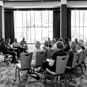 Conference attendees participating in the Firm Transitions session.