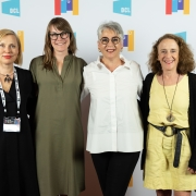 Inguna Elere, Traci Sym, Despina Macris, and Amy Siegel at the 2019 SEGD Conference Experience in Austin, TX.