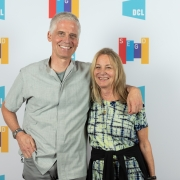 Michael Gericke and Paula Scher of Pentagram at the 2019 SEGD Conference Experience