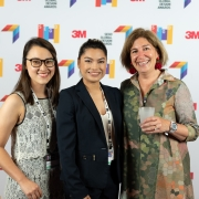 Nadia Tran, Alwyn Brownewell, and Leslie Wolke at the 2019 SEGD Conference Experience in Austin, TX.