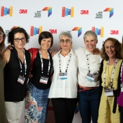 Traci Sym, Julie Vogel, Anna Crider, Despina Macris, Darlene van Uden, Amy Siegel, and Amy Lukas at the 2019 SEGD Conference Experience in Austin, TX.
