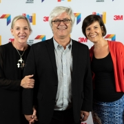 Gretchen Wilde, Airpark Signs & Graphics, Clive Roux, SEGD, and Anna Crider, Two Twelve, at the 2019 SEGD Conference Experience in Austin, TX