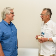 Clive Roux and Wayne Hunt at 2019 SEGD Academic Summit in Austin, TX.