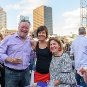 Conference Participants enjoying the Archetype Welcome Party at the 2019 SEGD Conference Experience in Austin, TX.
