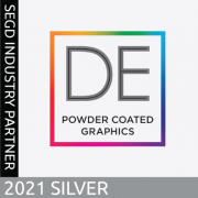 2021 SEGD Silver Industry Partner, DE Powder Coated Graphics