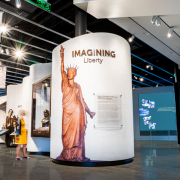 The new museum gives 4.3m annual visitors to the Statue of Liberty the opportunity to learn about the Statue's history, influence, and legacy in the world through interactive, immersive exhibits. (Photo: Christopher Vernale)