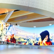 Rostov-on-Don Platov International Airport  (image: large 360-degree screen in airport)