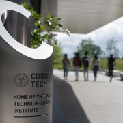 Cornell Tech (image: stainless steel marker, emblazoned with school logo and name)