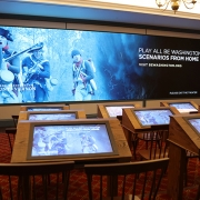 """The """"Be Washington"""" interactive theater before visitors enter. (image: interactive theater)"""