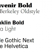 Combining just sans serif typefaces, however, is more challenging.