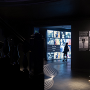 Concluding the experience, visitors enter the Half-frame Room to reflect on what they have experienced and contemplate the future of street photography. Photo credit: Sean Airhart/NBBJ
