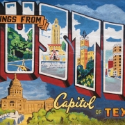 Wish You Were Here: Greetings From Austin (Mural)