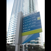 Tampa Downtown Wayfinding (photo of directional blade sign)