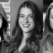 L-R: Leviathan Account Manager Meg Miller, Art Director Mackenzie Suben, and Designer Morgan Itterly.