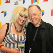 Janelle Slivka and Lance Wyman at the 2017 SEGD Conference Experience Miami