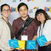 Casey Mann, Norman Lau, Danielle Amaral at the 2017 SEGD Conference Experience Miami
