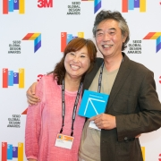 Paul Choe and partner at the 2017 SEGD Conference Experience Miami