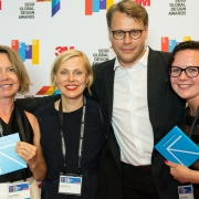 Susan Mavor, Inguna Elere, Holgers Elers, Dagnija Balode at the 2017 SEGD Conference Experience Miami