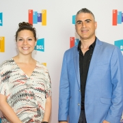 Katina Rigall Zipay, Dikran Vartan at the 2017 SEGD Conference Experience Miami